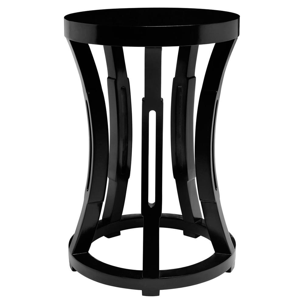 Lantana modern global black side table stool kathy kuo home for Black side table
