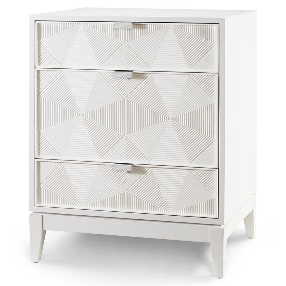 ... nightstands hal modern classic grooved geometric white nightstand