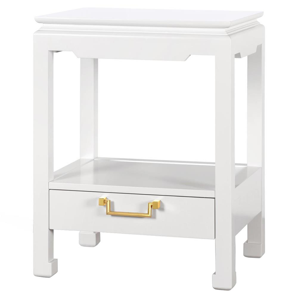 novak hollywood regency golden white lacquer nightstand  kathy kuo home. novak hollywood regency golden white lacquer nightstand  kathy