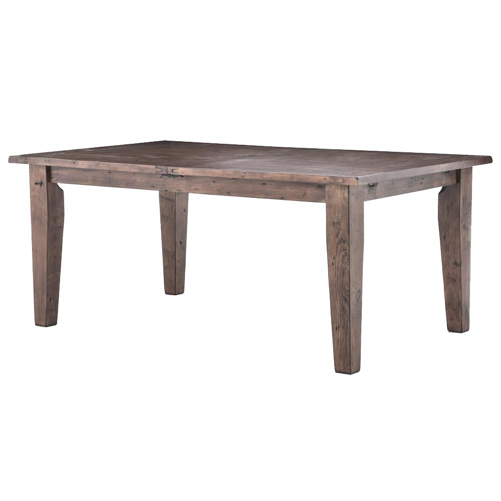 Abram rustic lodge wood farmhouse adjustable dining table Farm dining table