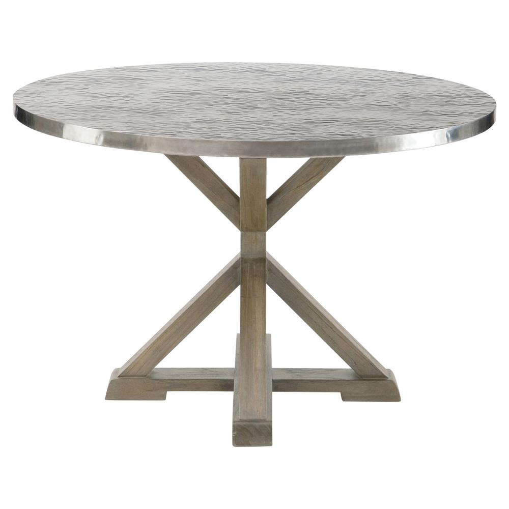 Industrial Round Dining Table: Lapo Industrial Loft Portobello Mindi Wood Round Dining Table