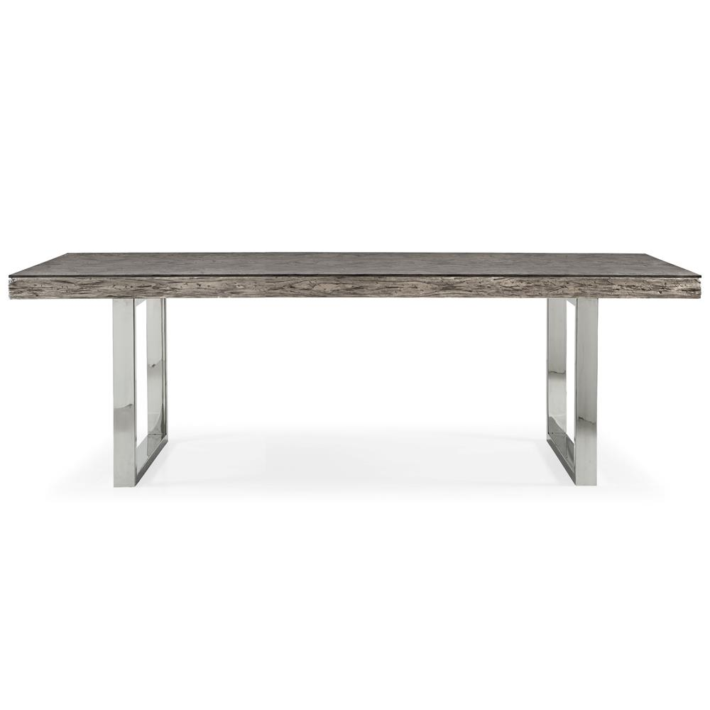Travers Lodge Stainless Steel Rustic Wood Glass Top Dining  : product13320 from www.kathykuohome.com size 1000 x 1000 jpeg 34kB