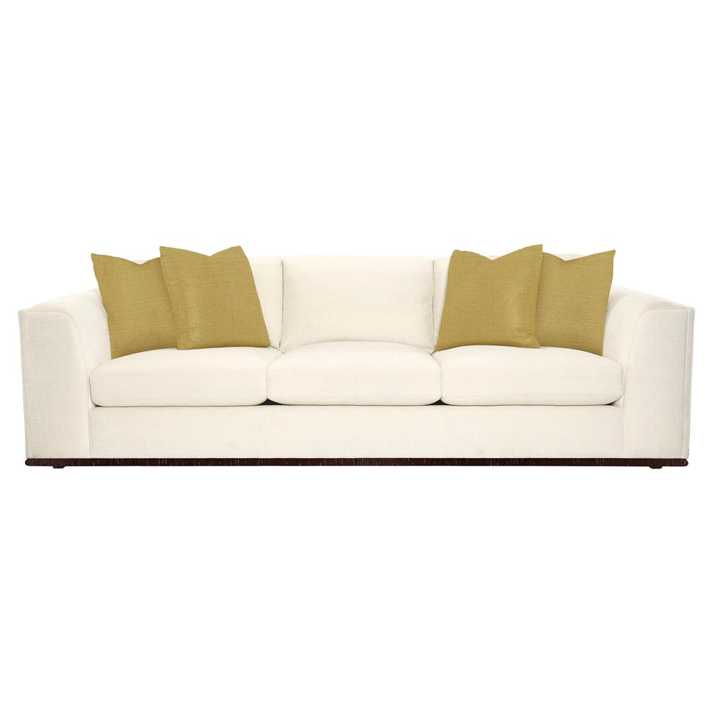 Luna Modern Classic Matte Gold Ivory Sofa Kathy Kuo Home