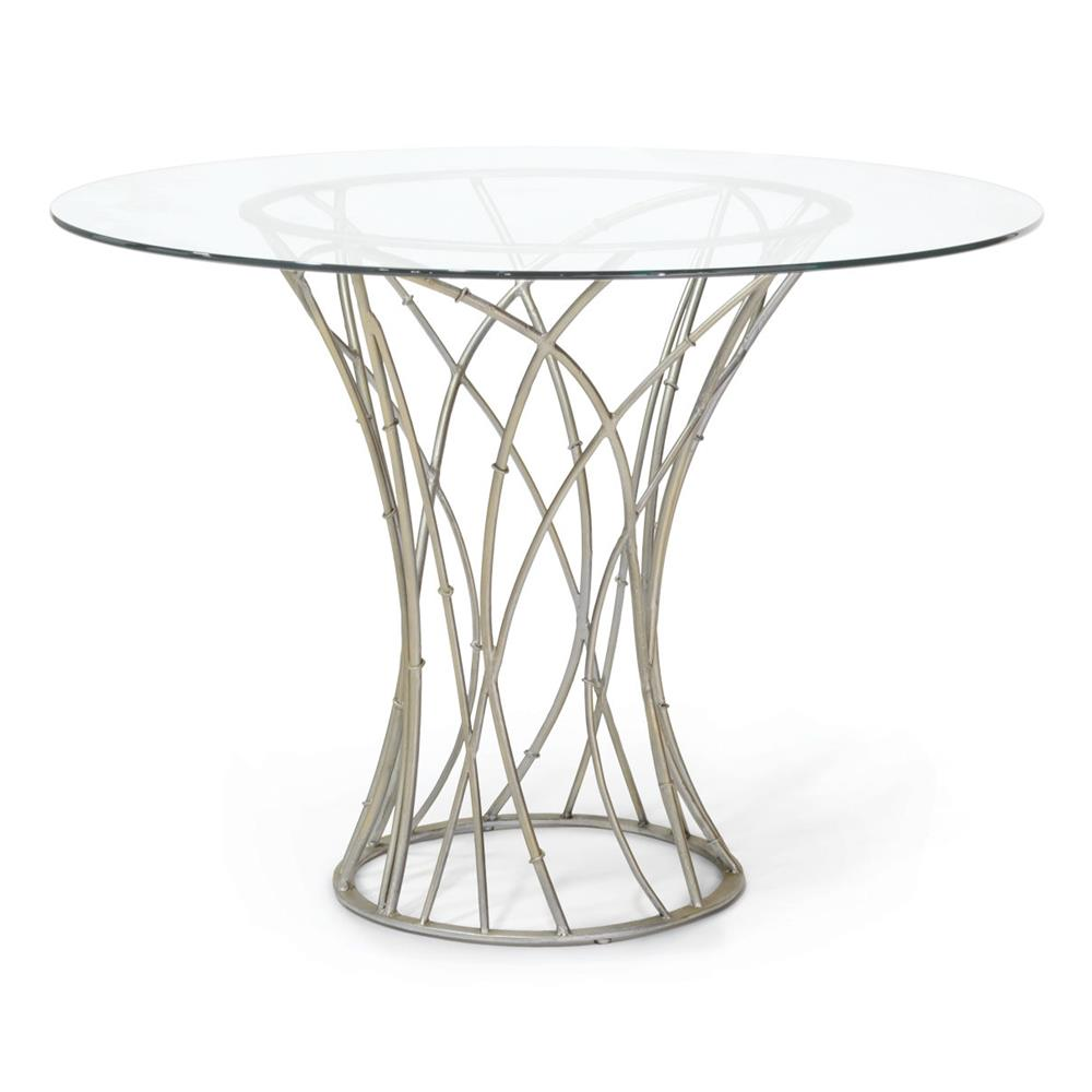 Dining Tables Emma Modern Round Wrought Iron Outdoor Dining Table