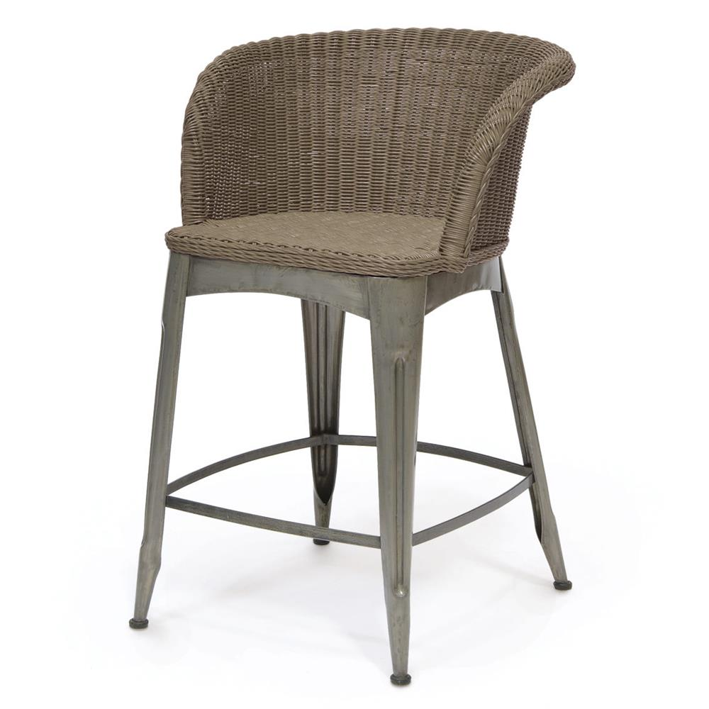Reznor Industrial Loft Vintage Iron Wicker Counter Stool | Kathy Kuo Home  sc 1 st  Kathy Kuo Home & Reznor Industrial Loft Vintage Iron Wicker Counter Stool | Kathy ... islam-shia.org