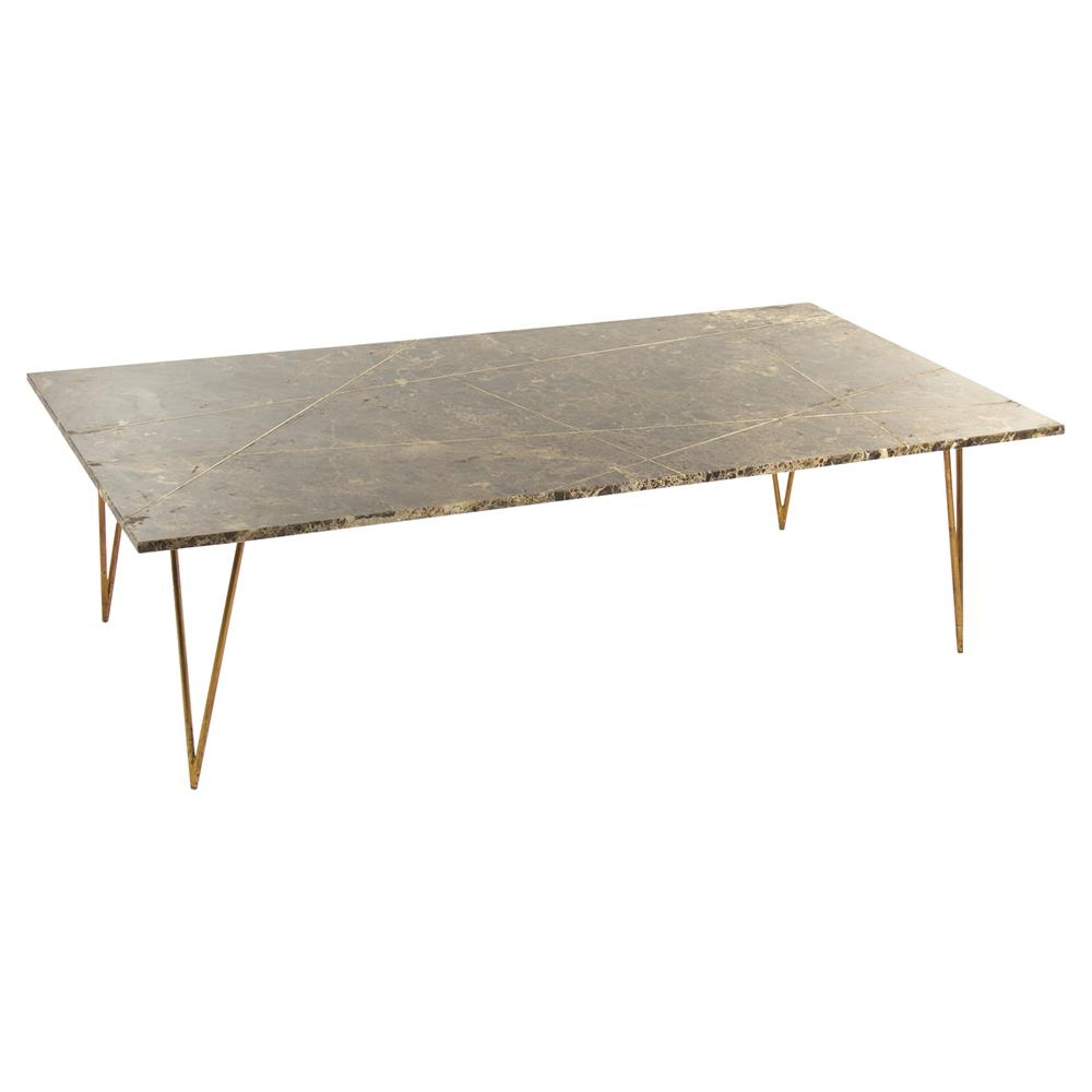 carolyn hollywood regency quartz gilded coffee table