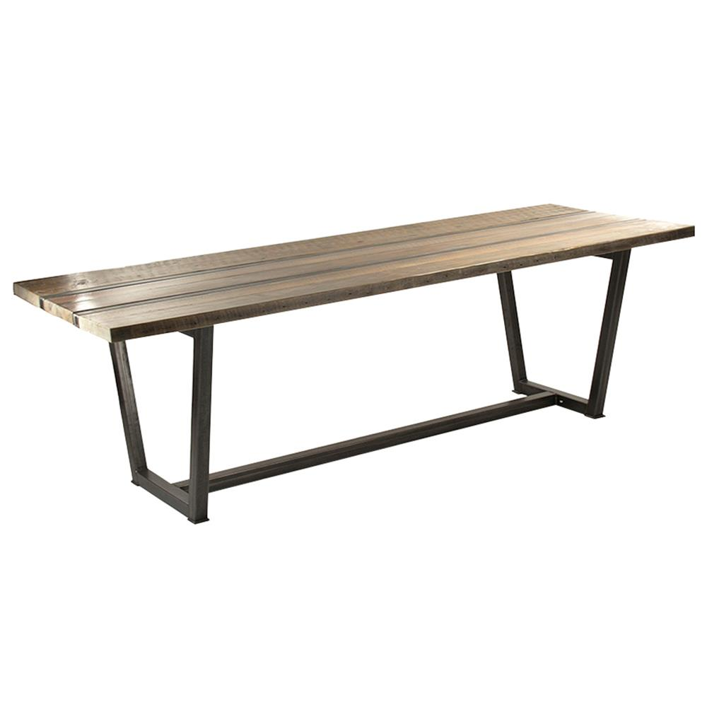 Dining Tables Jed Industrial Loft Rustic Wood Iron Dining Table