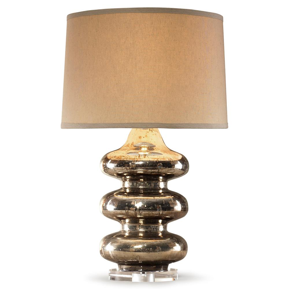 Glass Gold Speckled Table Lamp