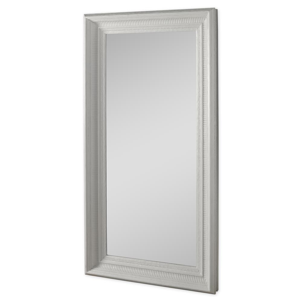 Mr. Brown Tobias French Country White Gesso Framed Floor Mirror