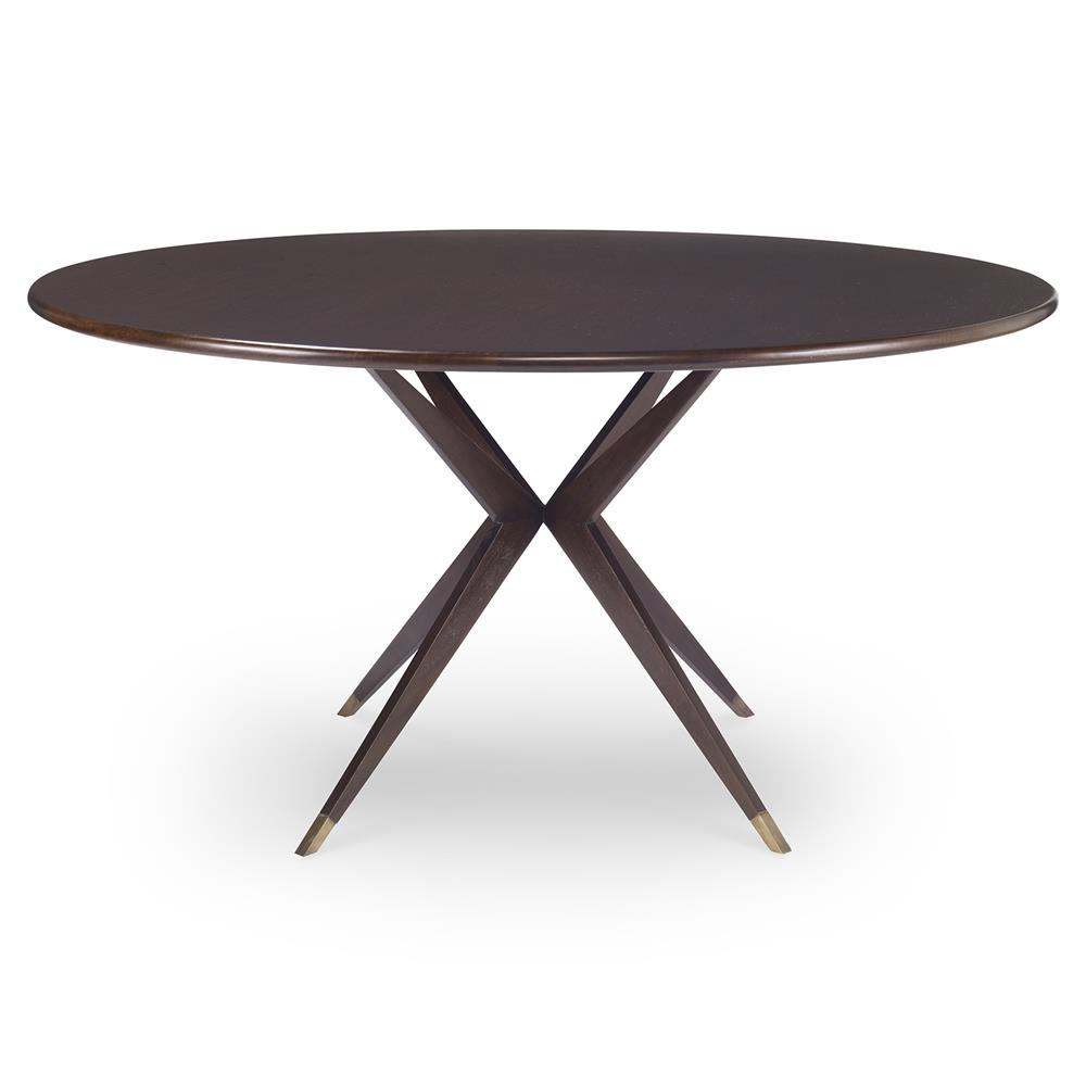 Dining Tables Clarion Modern Atom Brass Walnut Dining Table 48d