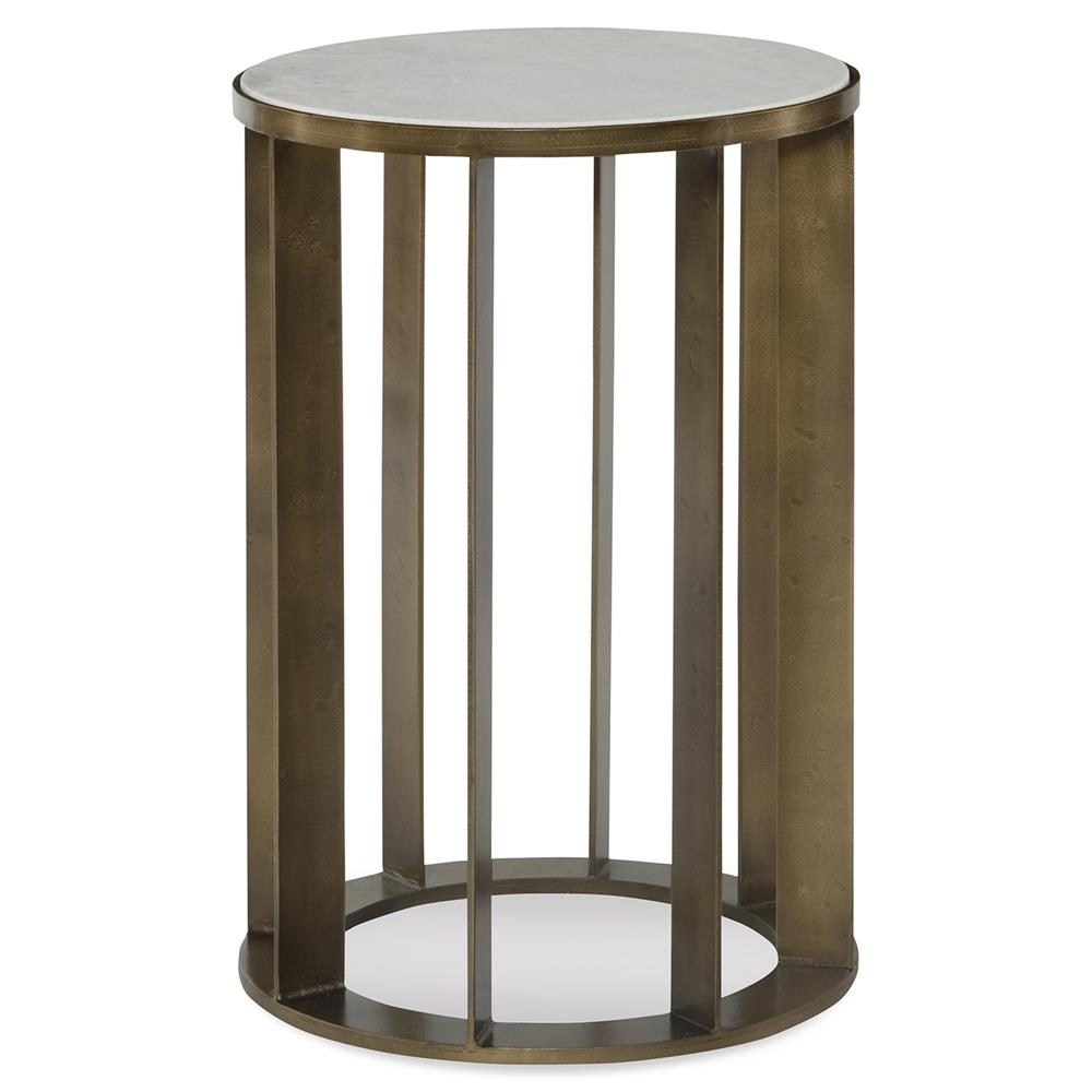 Briley Modern Classic Gold Marble Round End Table Kathy