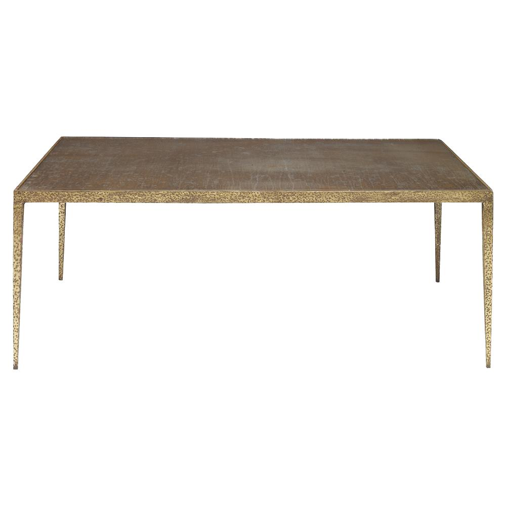 Mr brown hawes global gold metal latte glass coffee table kathy kuo home Gold metal coffee table