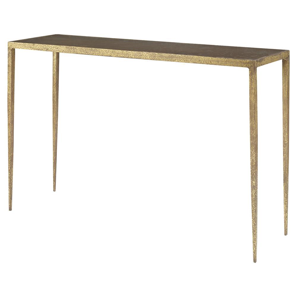 Mr Brown Hawes Global Gold Metal Latte Gl Console Table Kathy Kuo Home