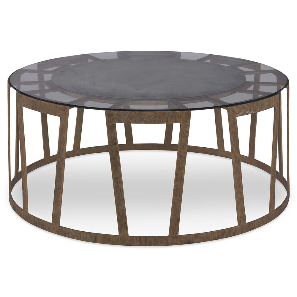 Mr Brown Vernet Modern Classic Flat Gold Round Coffee Table Kathy Kuo Home