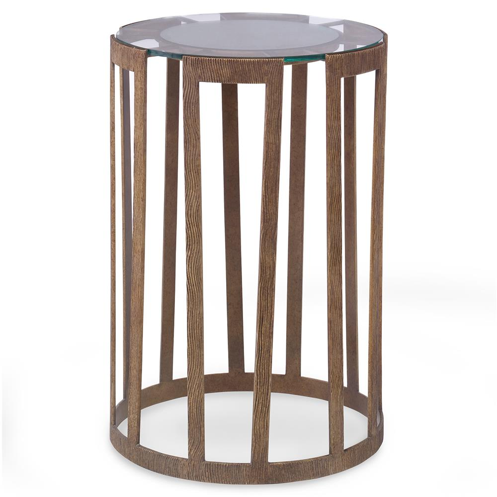 Mr Brown Vernet Modern Classic Flat Gold Glass End Table
