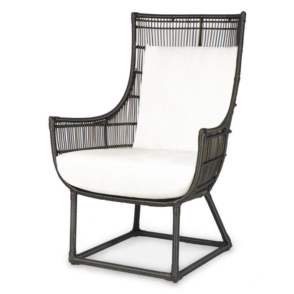 Palecek verona modern classic faux wicker espresso outdoor for Outdoor lounge furniture