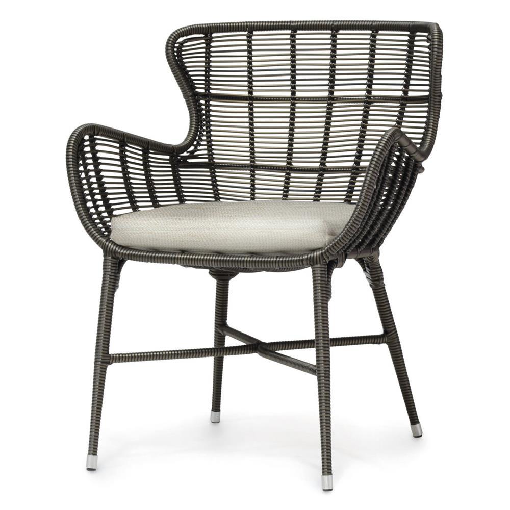 Palecek Palermo Modern Classic Espresso Outdoor Chair - Natural Salt |  Kathy Kuo Home ... - Palecek Palermo Modern Classic Espresso Outdoor Chair - Natural Salt