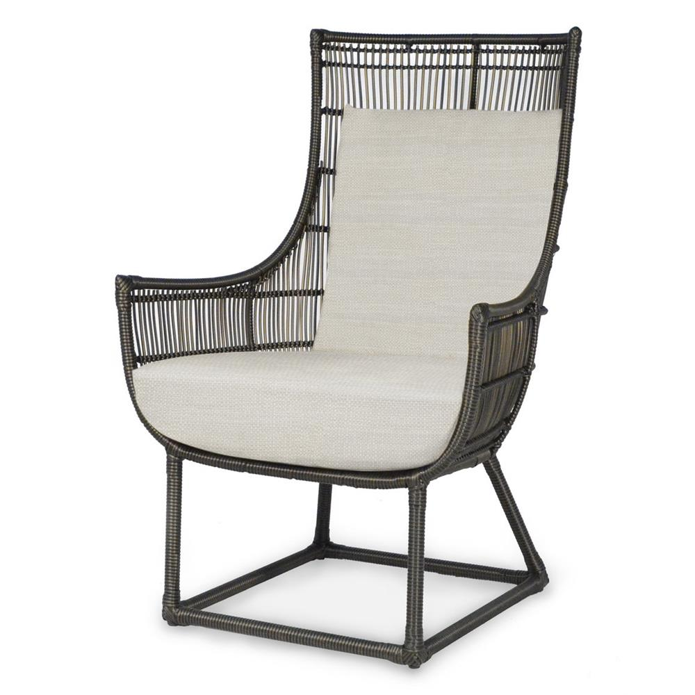 Palecek Verona Modern Classic Faux Wicker Outdoor Lounge Chair
