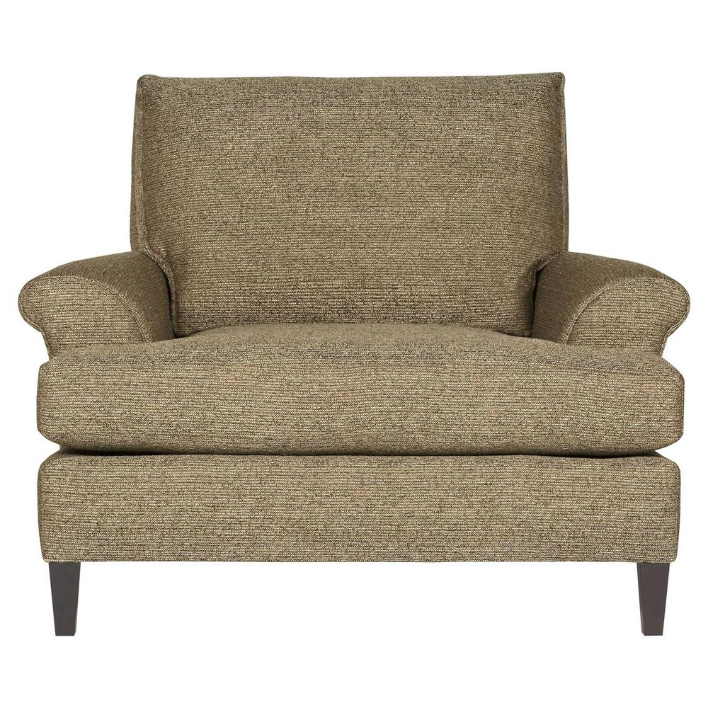 Modern classic armchair - Pascale Modern Classic Overstuffed Tweed Brown Armchair Kathy Kuo Home