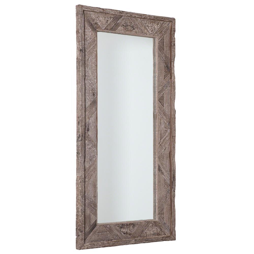 sheldon rustic lodge reclaimed railroad ties mirror