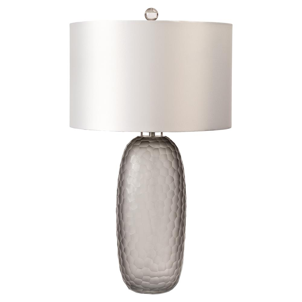 Taylor Modern Classic Grey Smoked Glass Honeycomb Table Lamp | Kathy Kuo  Home