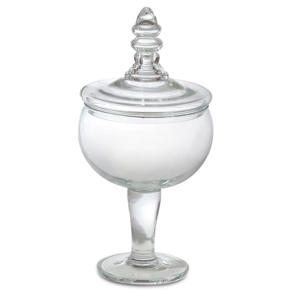 january modern classic clear glass apothecary jar small