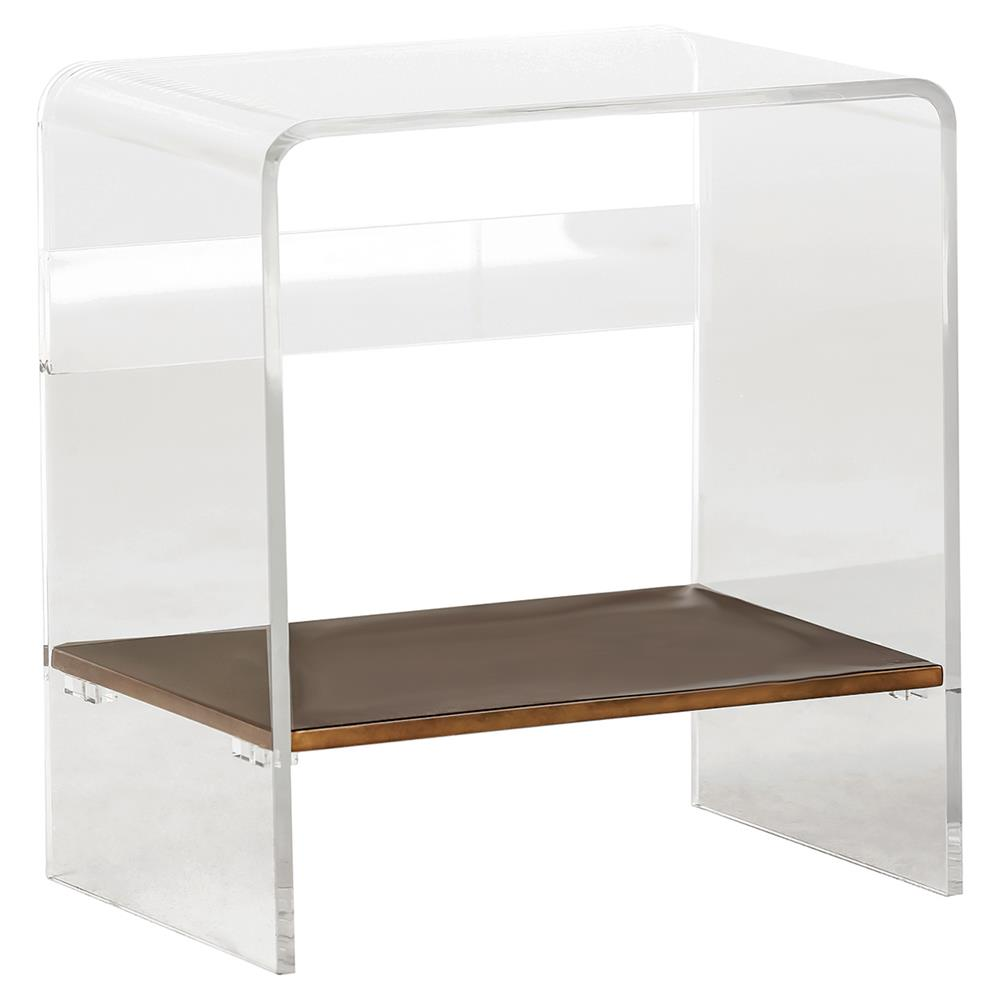 Acrylic End Table Modern Interesting