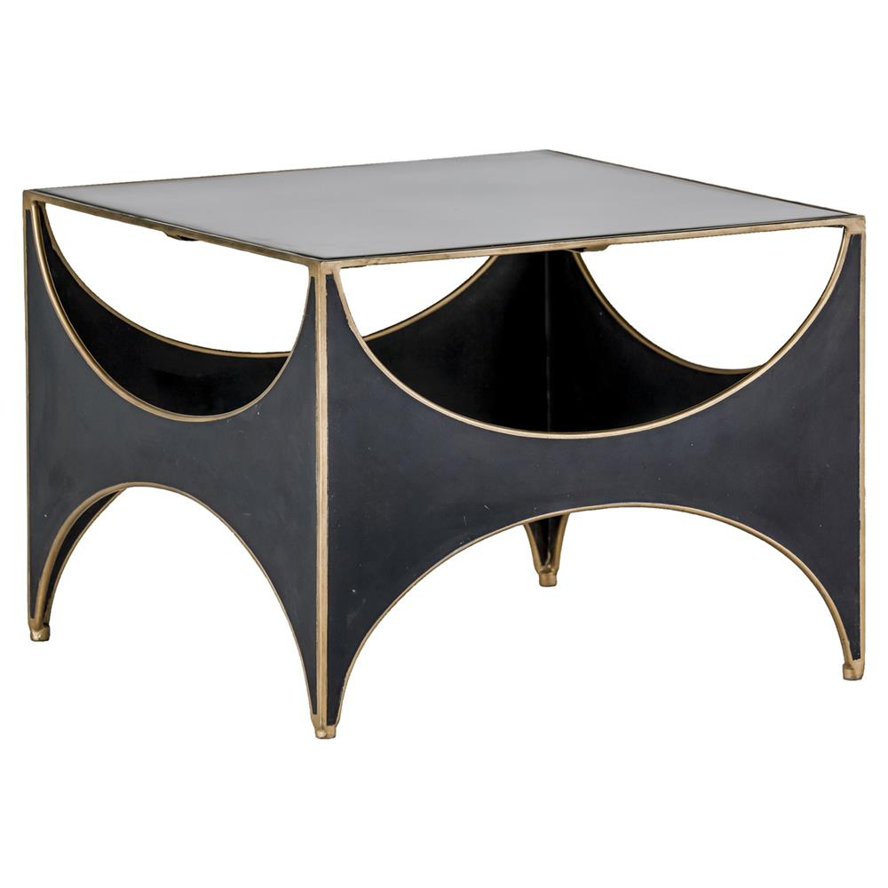 Julissa Regency Half Moon Black Seagrass Coffee Table Kathy Kuo Home