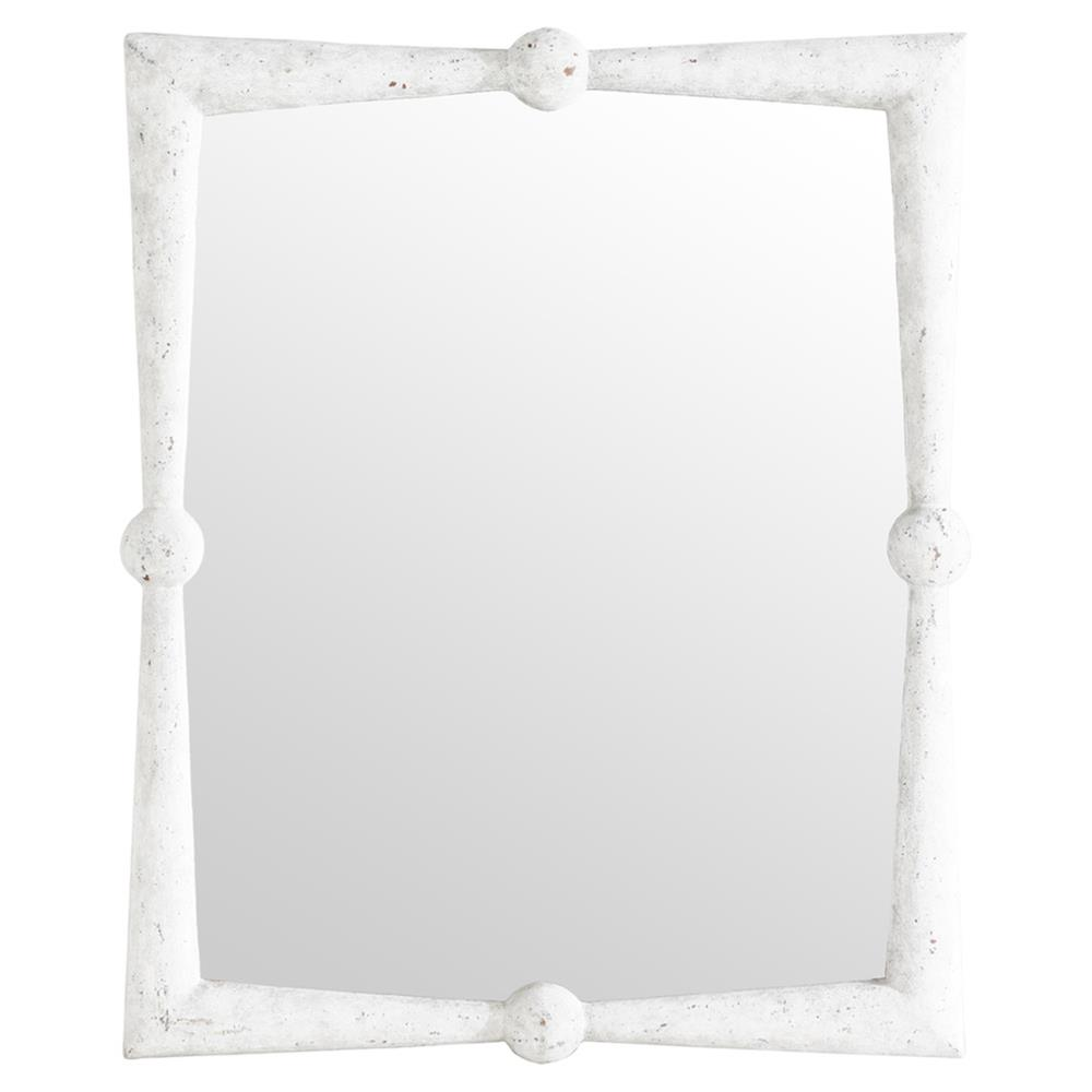 . manoela coastal modern rustic white wall mirror  kathy kuo home