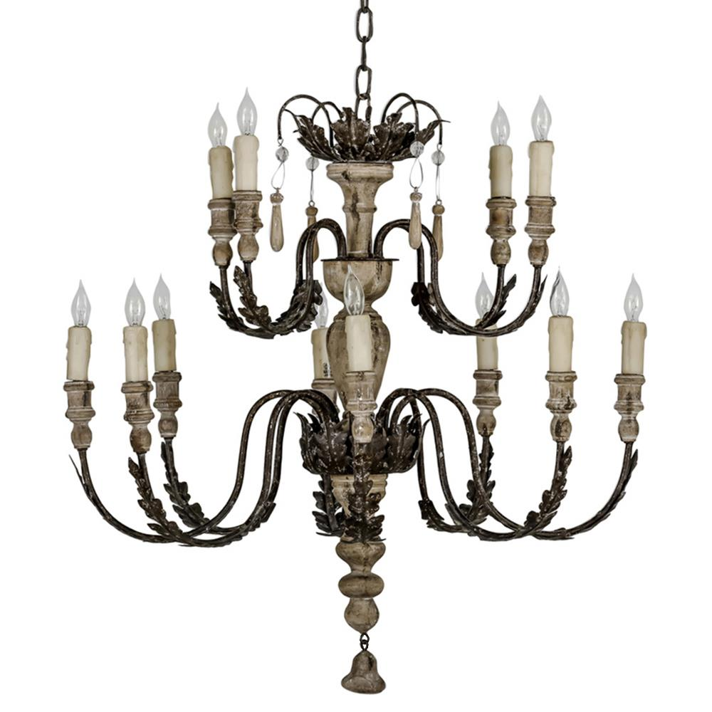 Larraine French Country Formal Oak Rustic Chandelier
