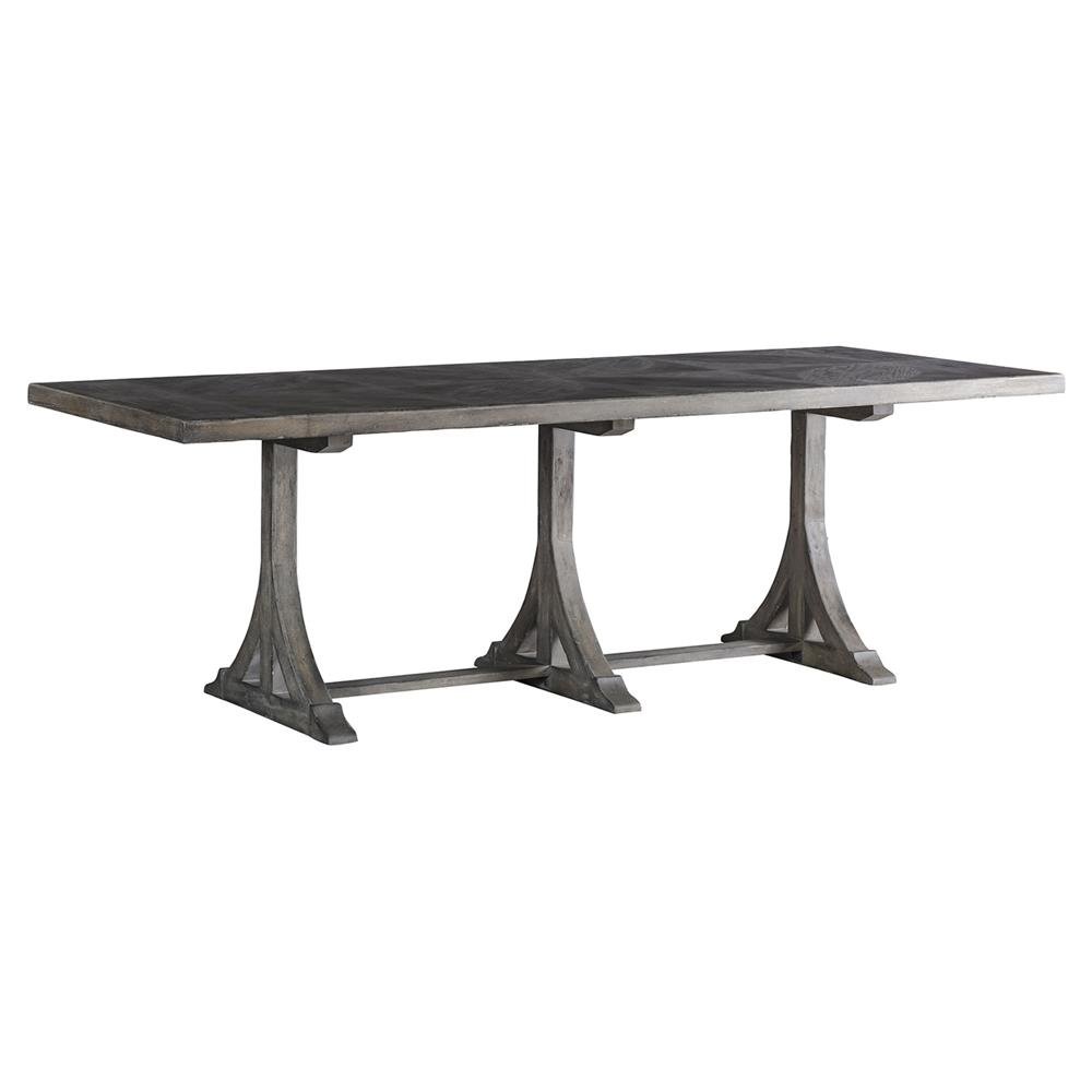 trestle dining table grey coleman rustic antique grey half trestle dining table 6376