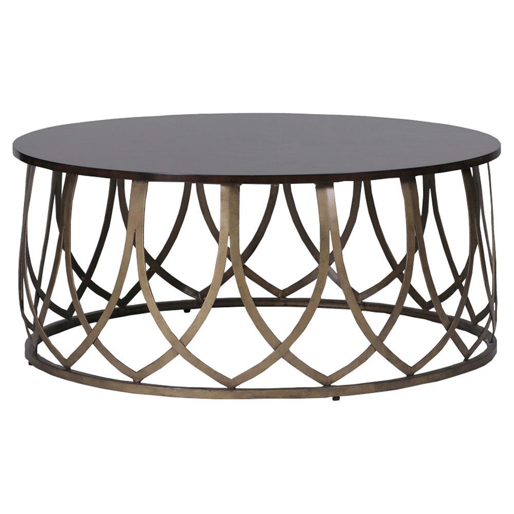 Nadia global bazaar brass petal coffee table kathy kuo home for Bizarre coffee table