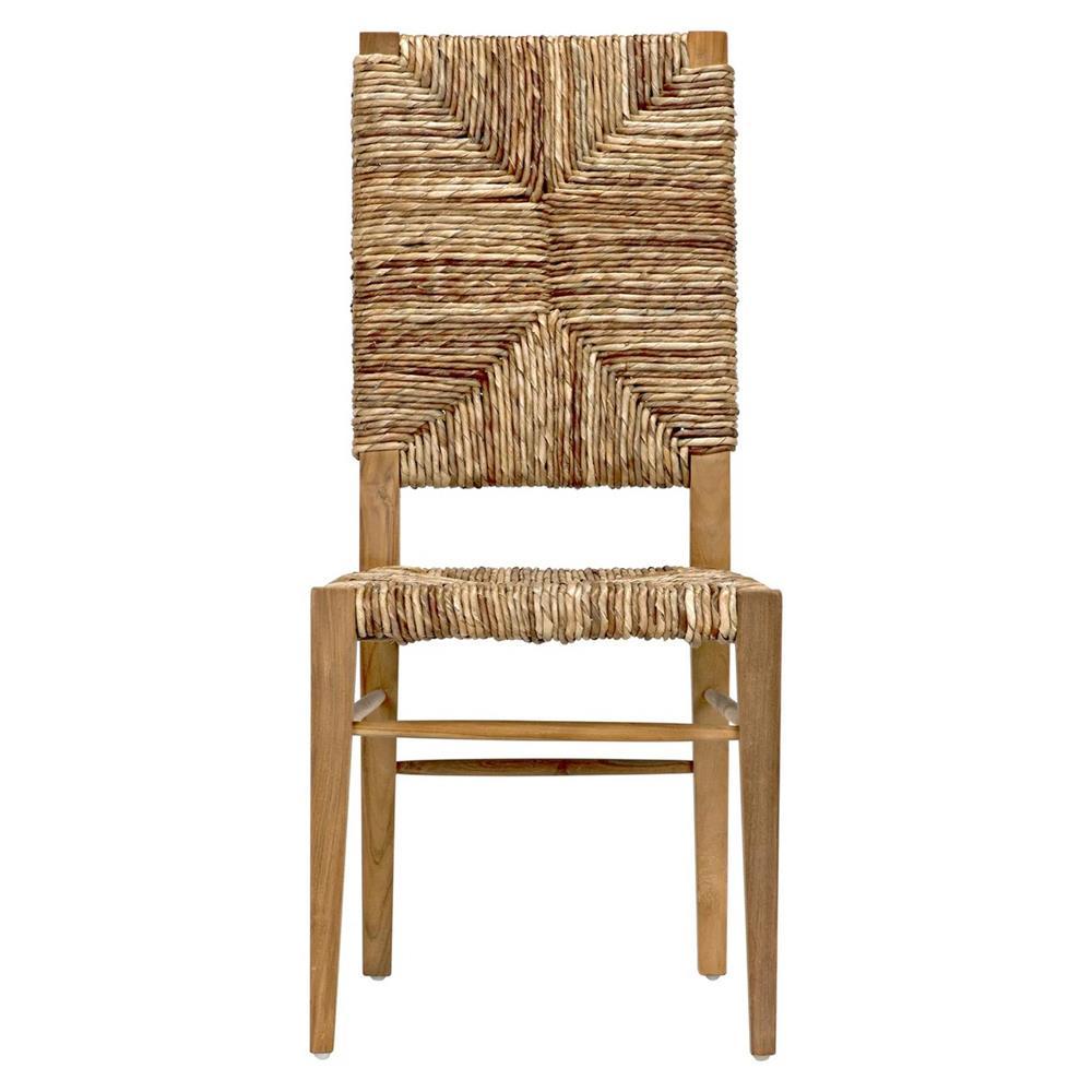 Nantucket coastal beach seagrass teak dining chair kathy