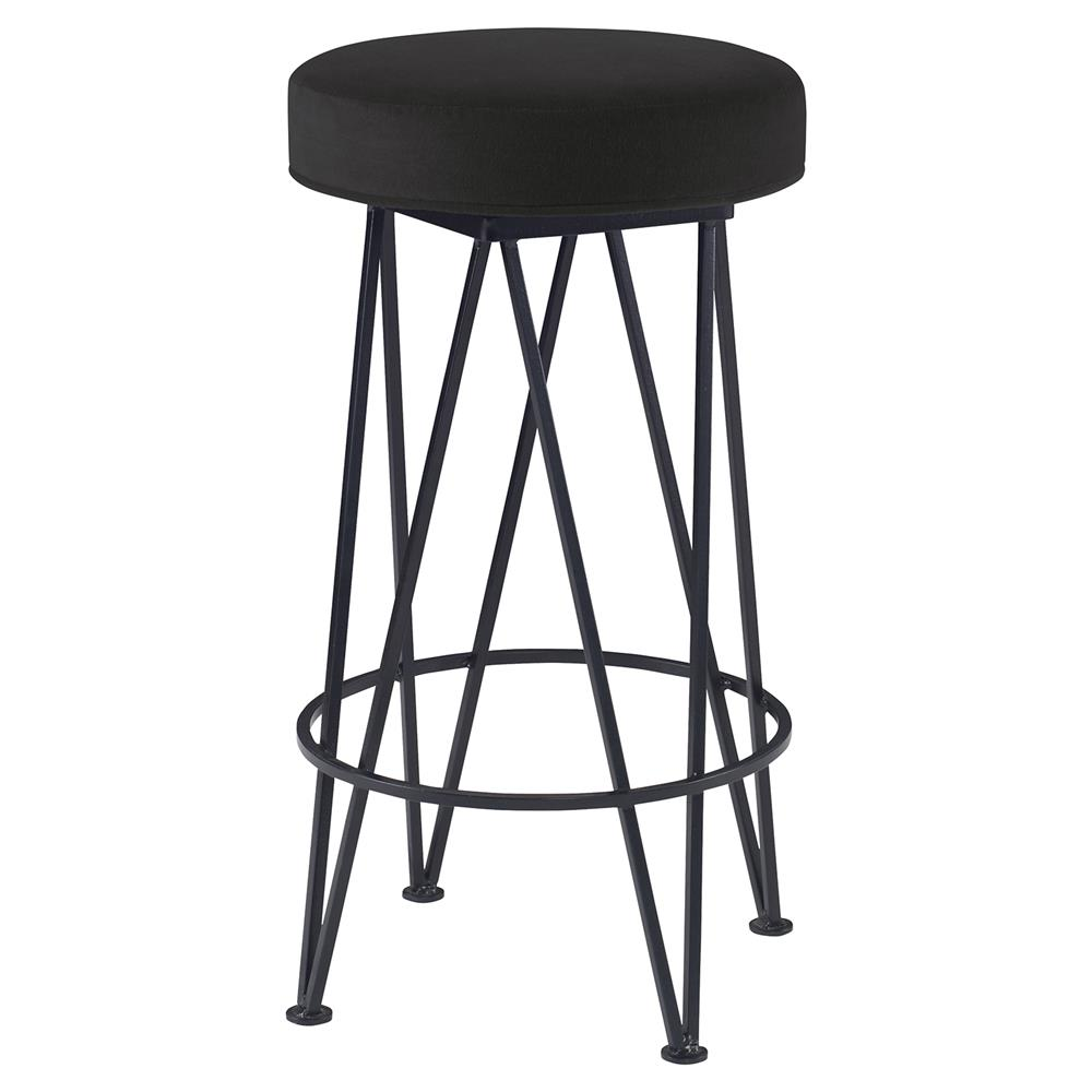 Lucy Modern Black Hairpin Counter Stool Dark Grey Velvet  : product14436 from www.kathykuohome.com size 1000 x 1000 jpeg 52kB