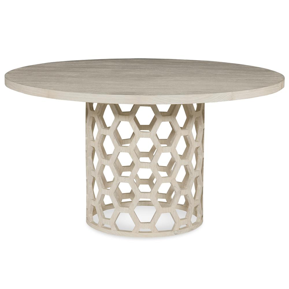 jenny modern white wash honey comb dining table 48d