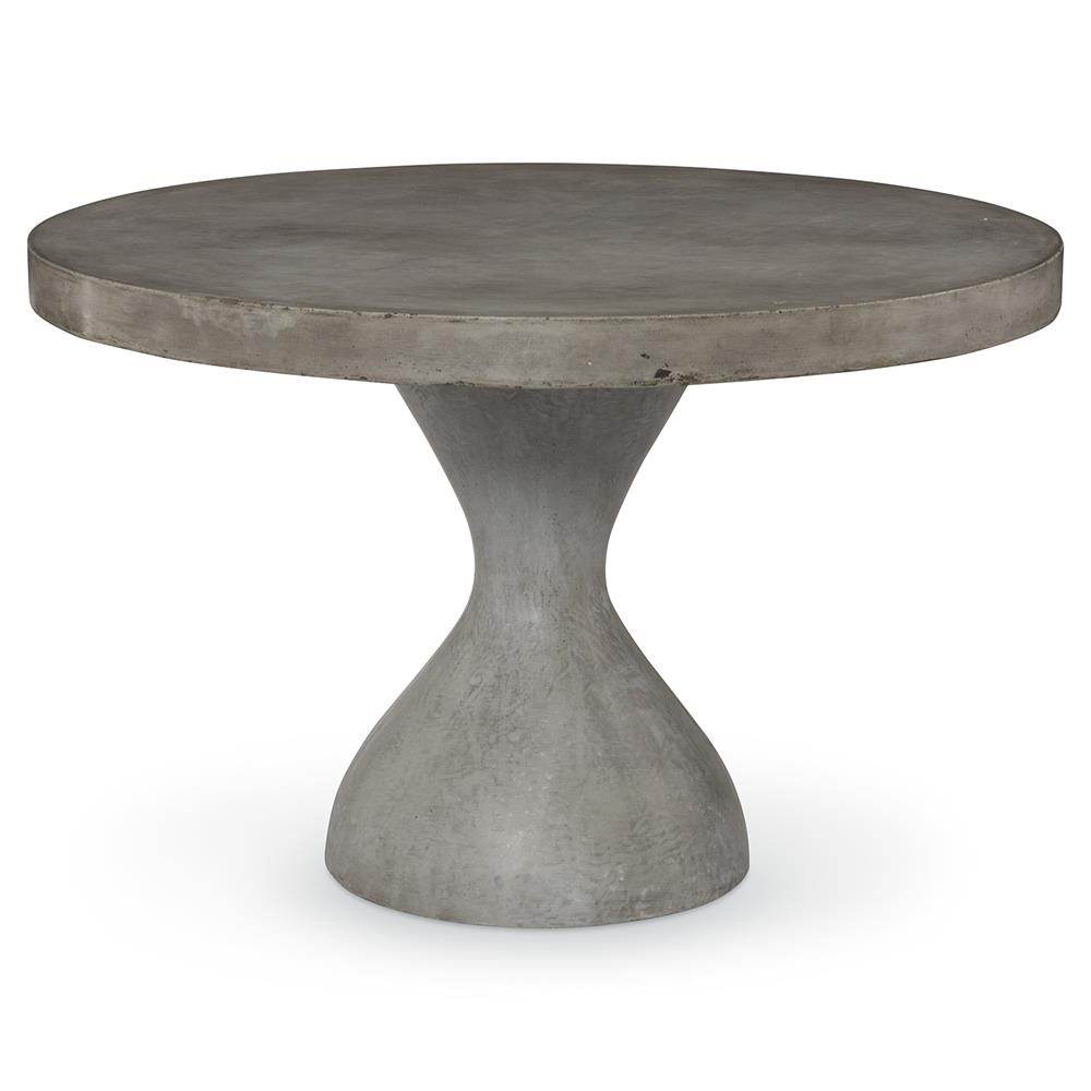 Mr Brown Parrot Industrial Slate Concrete Outdoor Dining Table D - Concrete pedestal dining table