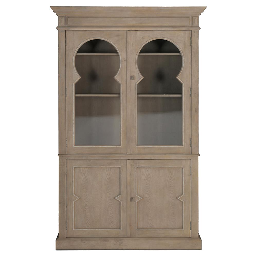 Cormier French Country Keystone Glass Door Cabinet Kathy
