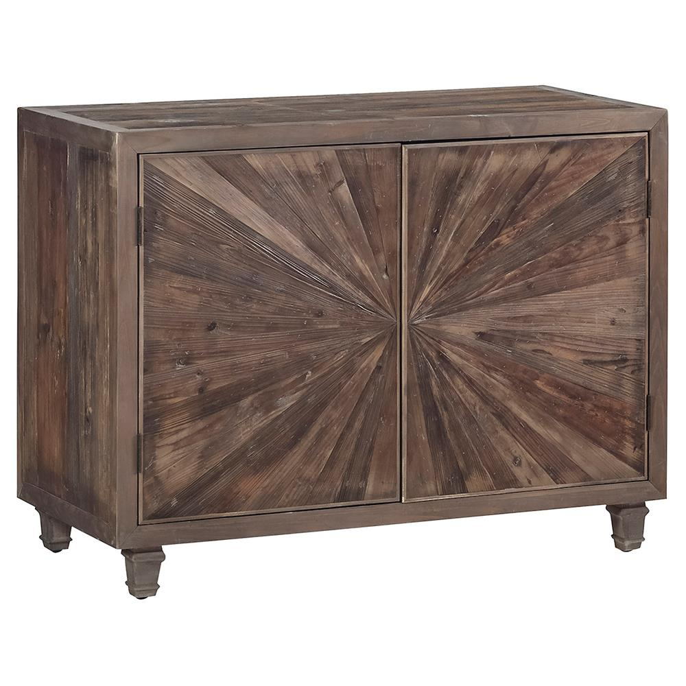 Greeley Rustic Lodge Star Burst Wine Cabinet