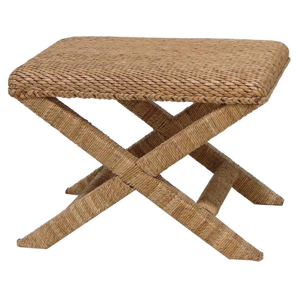 coastal beach furniture. Palecek Soleil Coastal Beach Natural Seagrass Rope Stool | Kathy Kuo Home Furniture