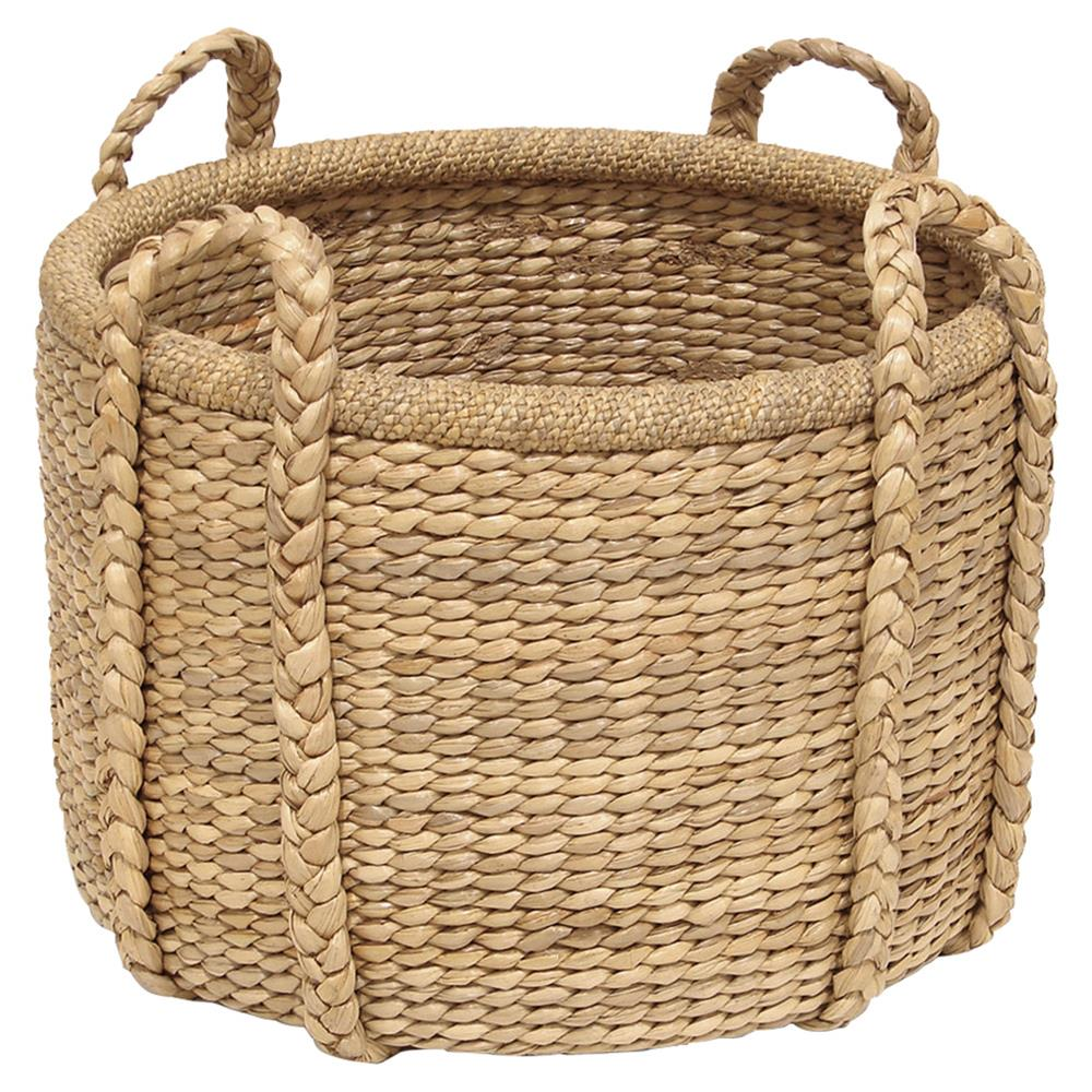 How To Hand Weave A Basket : Blossom coastal seagrass braid hand woven basket kathy