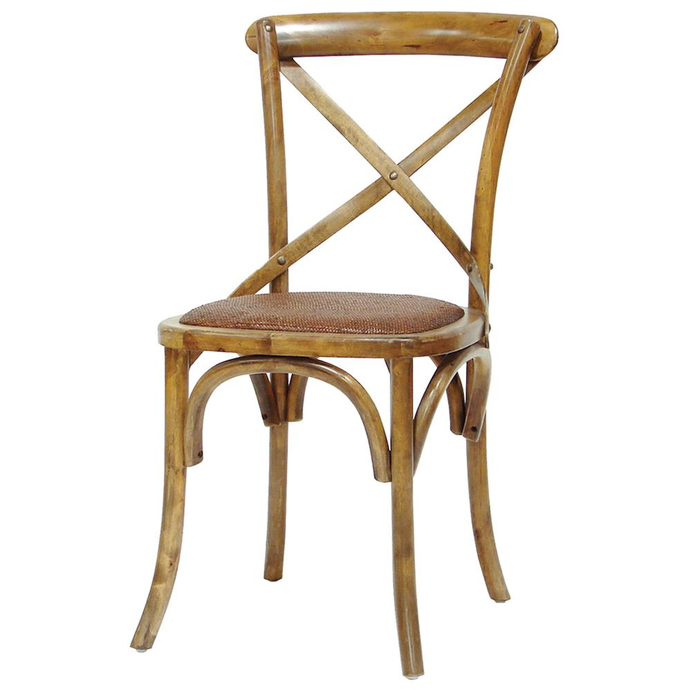 Magritte french country antique oak cane bistro chair kathy kuo home - Cane bistro chairs ...