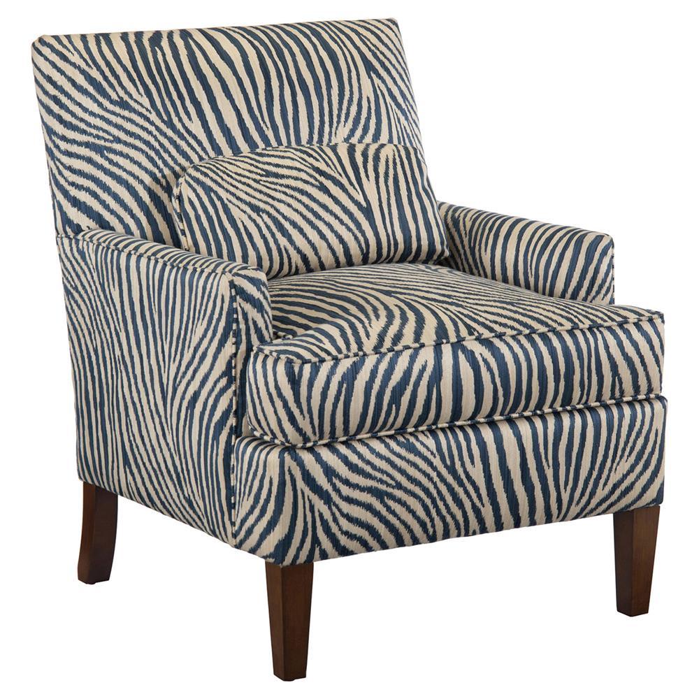 Adisa Global Bazaar Zebra Print Espresso Arm Chair | Kathy Kuo Home