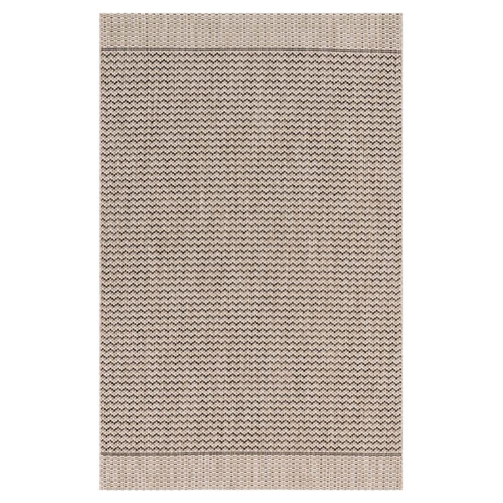 Yucatec coastal black grey zig zag outdoor rug 7 39 10x10 39 9 for 10x10 carpet