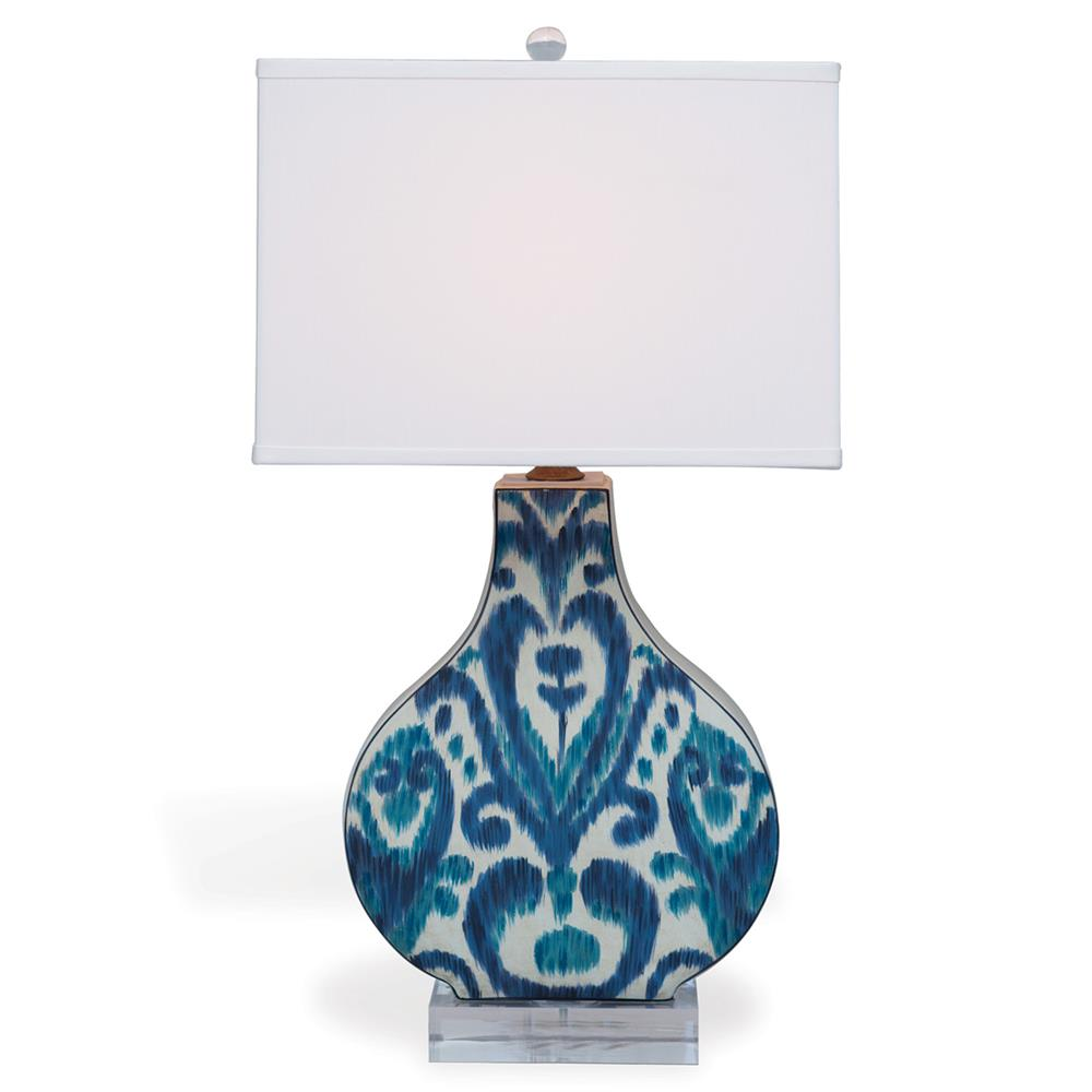 table lamps emily global blue ikat lucite ceramic table lamp. Black Bedroom Furniture Sets. Home Design Ideas