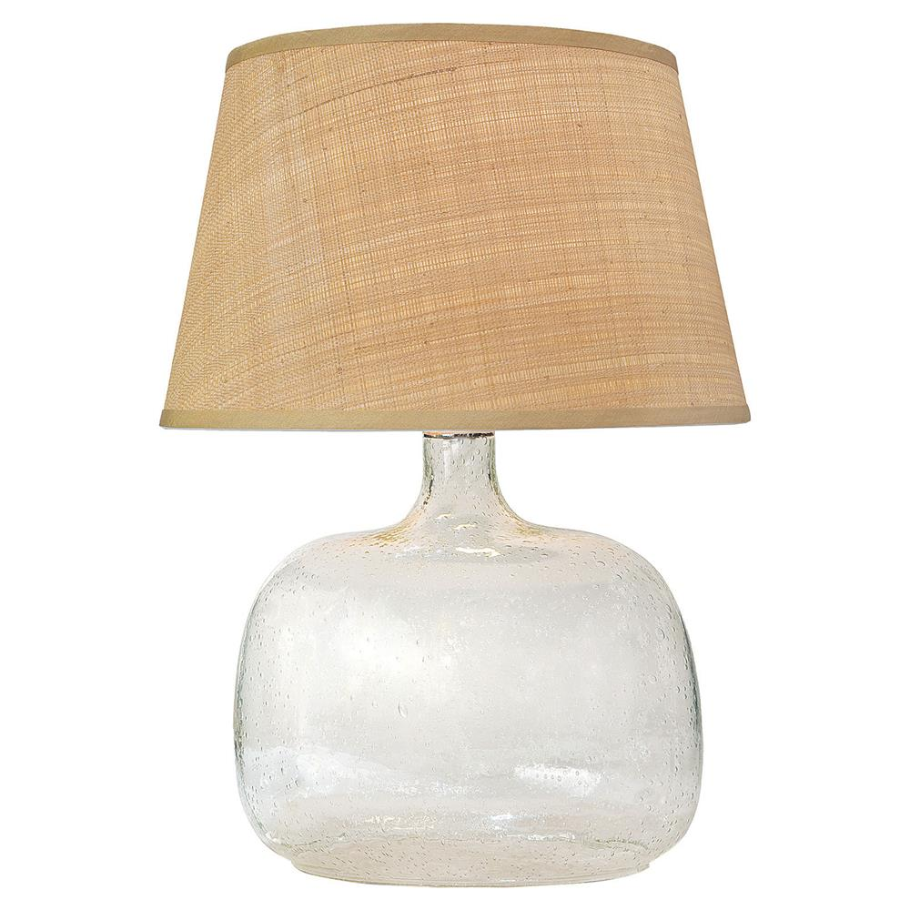 Edgewater Coastal Beach Clear Seeded Glass Table Lamp Kathy Kuo Home