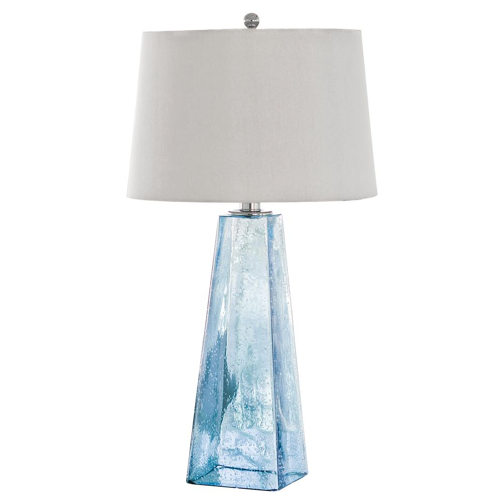 Lely Coastal Beach Ice Blue Seeded Glass Lamp Kathy Kuo Home