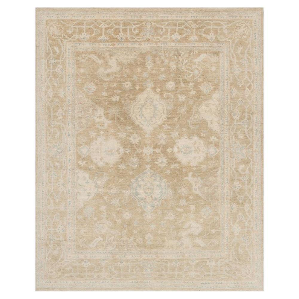 Sabi French Antique Wash Desert Scroll Wool Rug