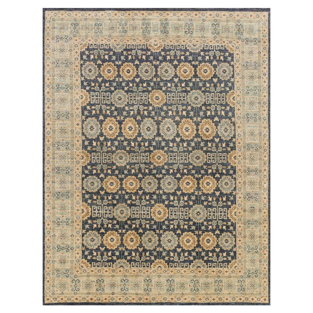 Ismetta Global Indigo Blue Medallion Wool Rug 3x5