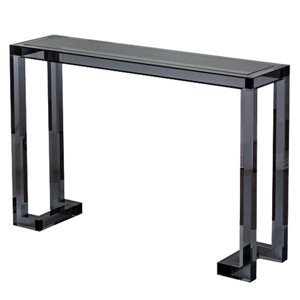 Ava modern classic black smoke acrylic console table for Modern classic table