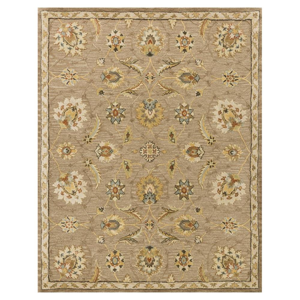 Robert French Country Beige Latte Vine Wool Rug 3 6x5 6